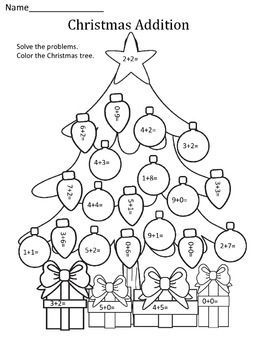 addition printables for christmas