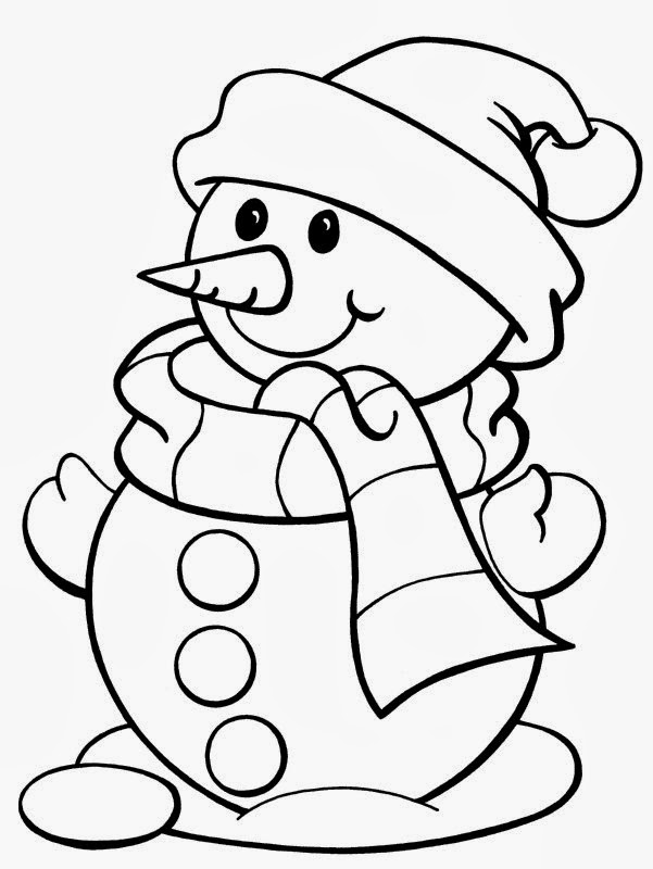 childrens christmas coloring pages printable