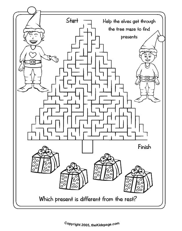 christmas activity pages printable