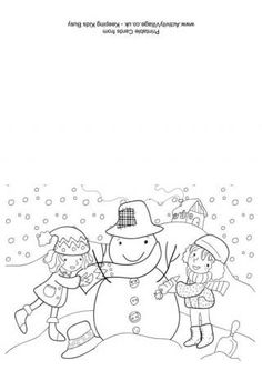 christmas card kindergarten printable