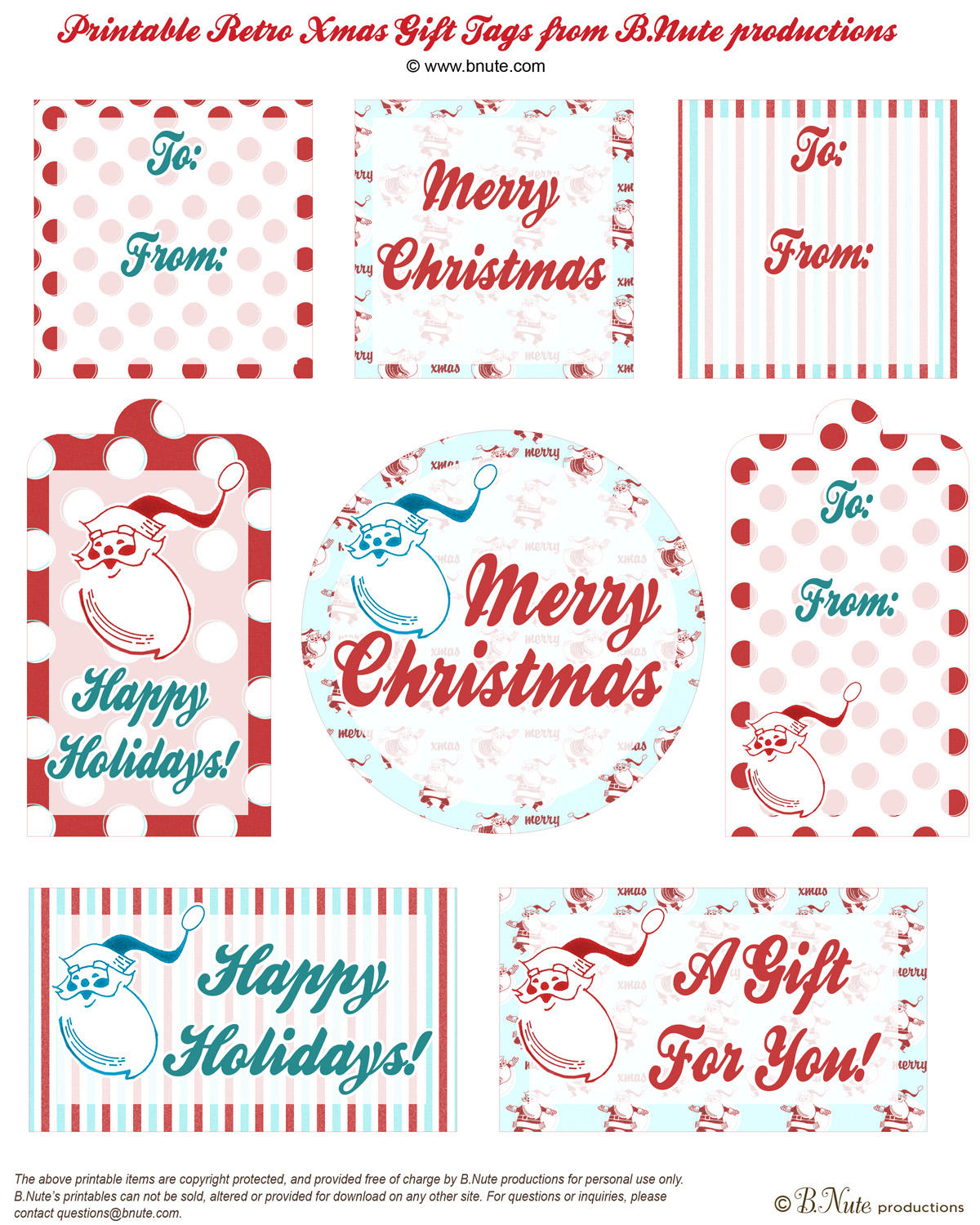 christmas cards for gifts to print free