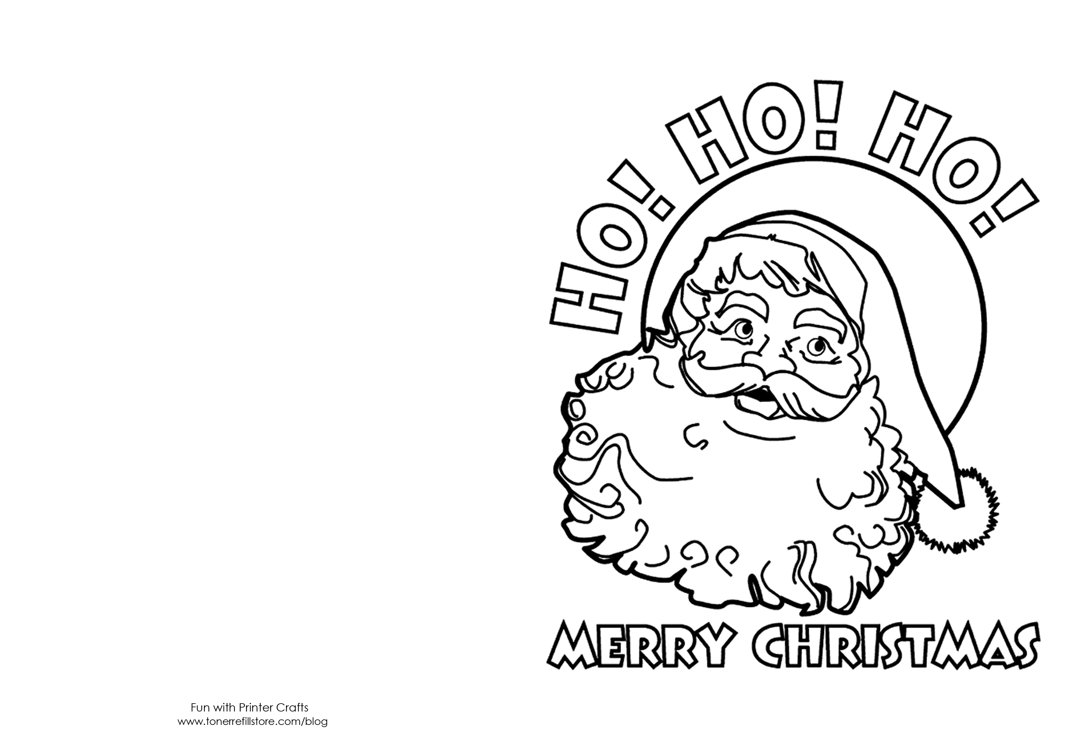 christmas cards to colour and print for free
