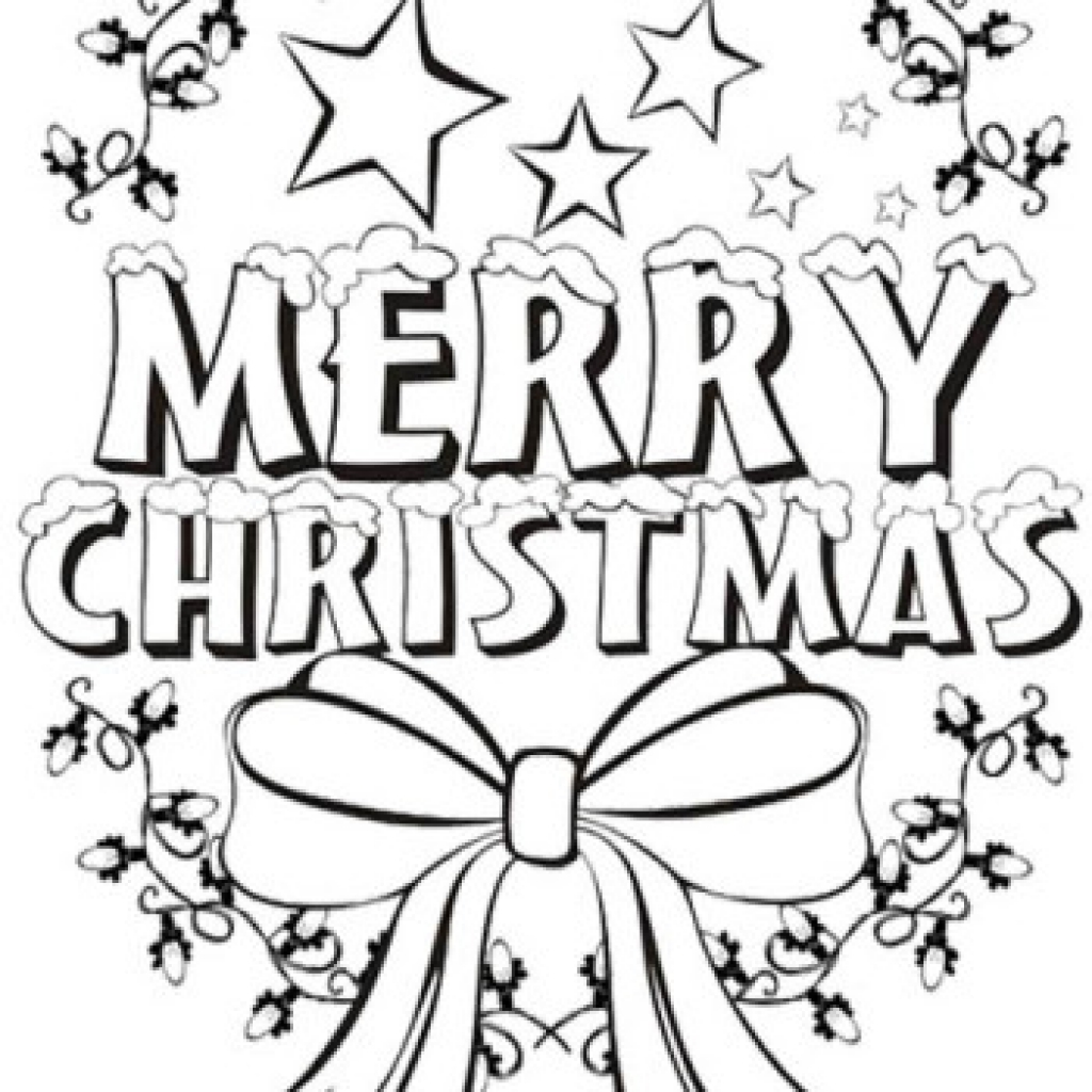 christmas coloring pictures to print