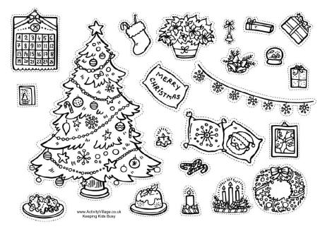 christmas decorations printable worksheets