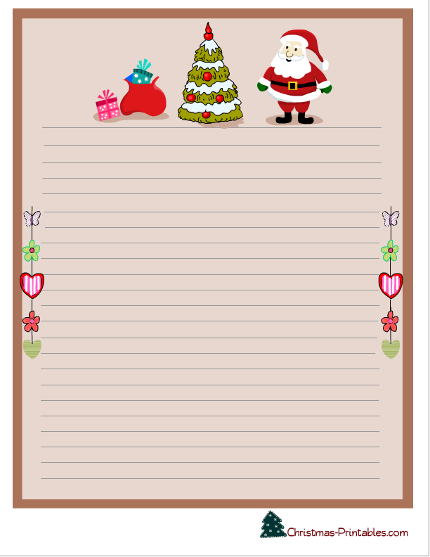 image regarding Free Stationary Printable known as Xmas Letter Paper Free of charge Printable - Xmas Printables