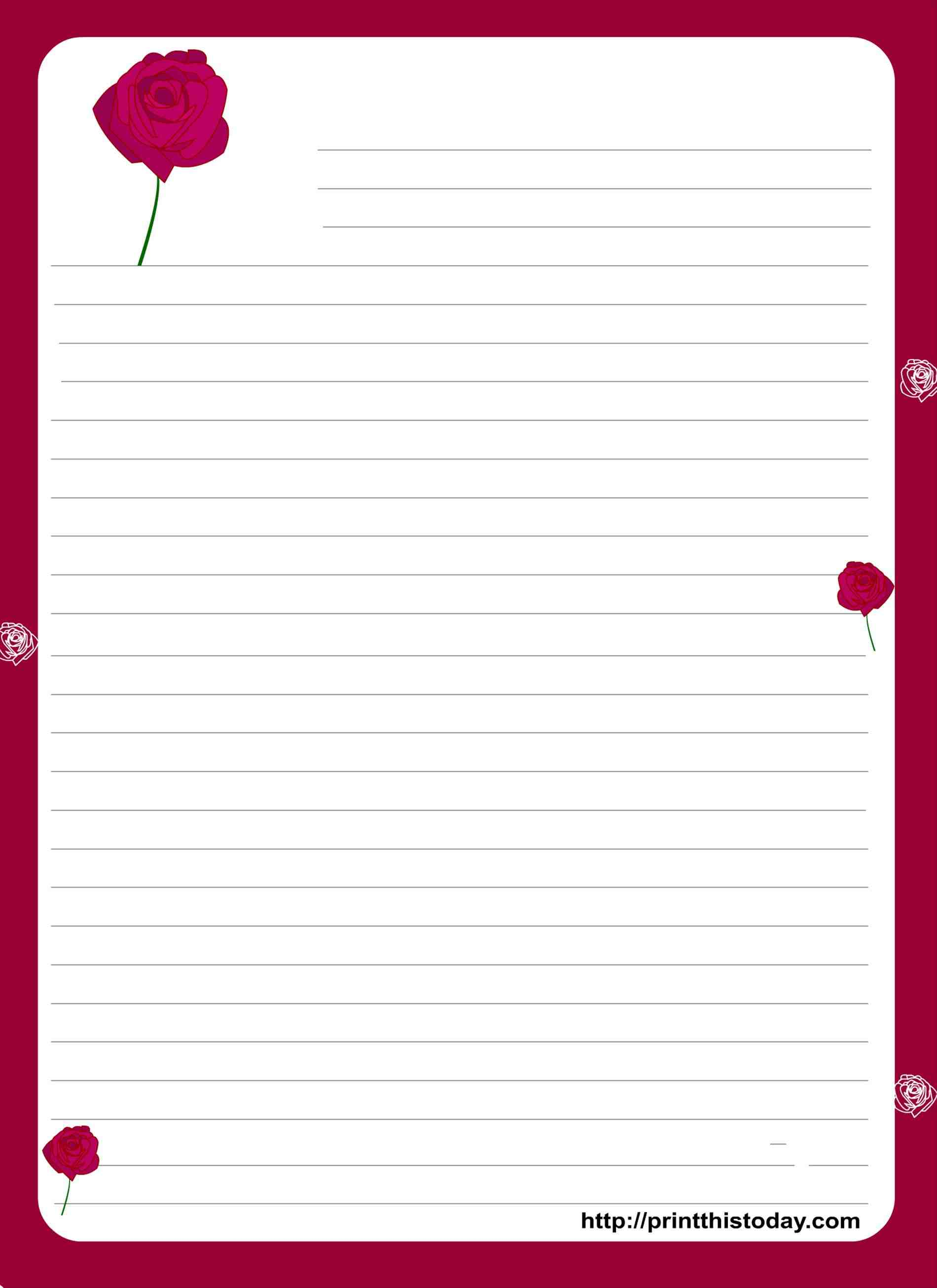 christmas letter paper free printable