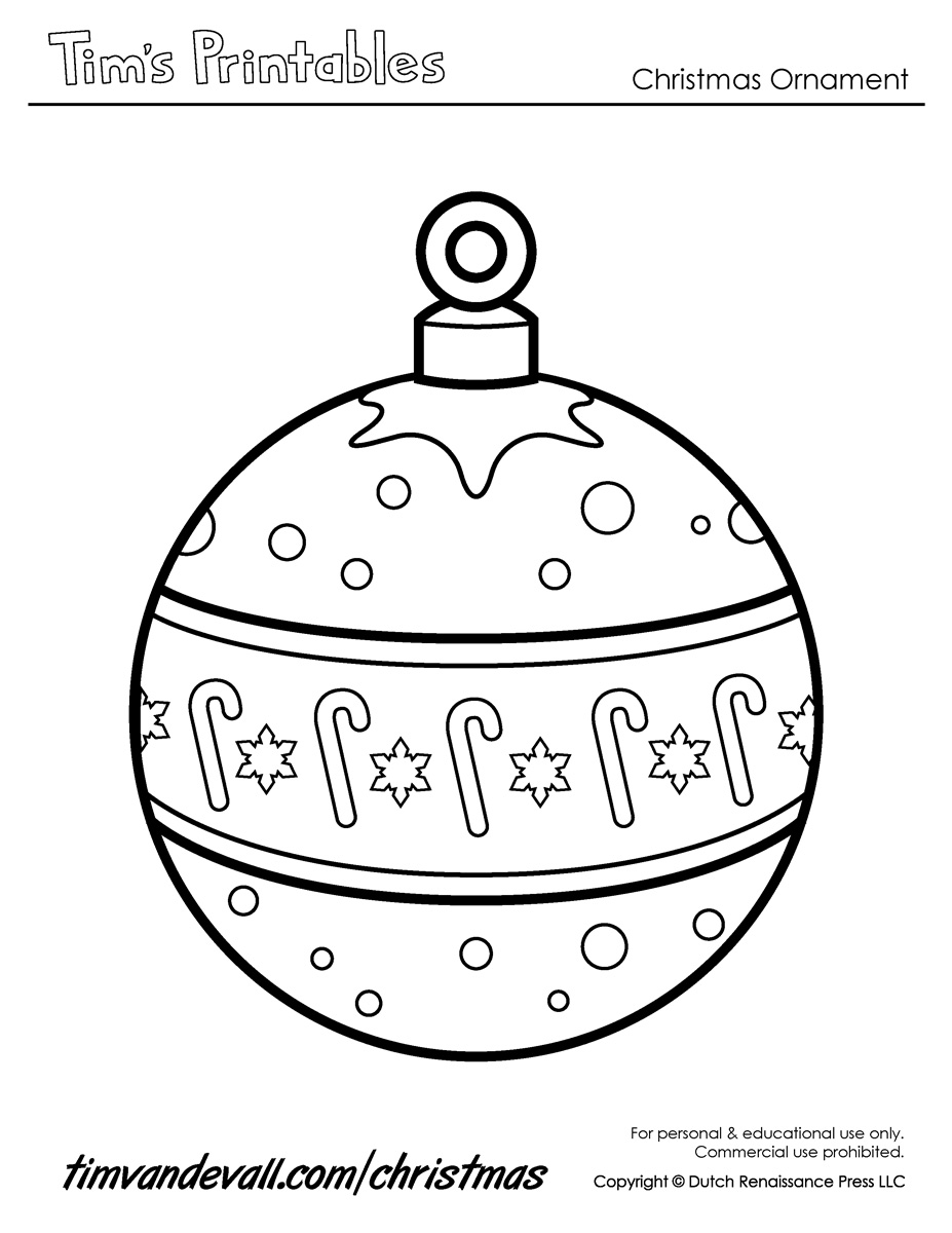 photograph about Christmas Ornaments Coloring Pages Printable known as Xmas Ornament Printables For Xmas - Xmas