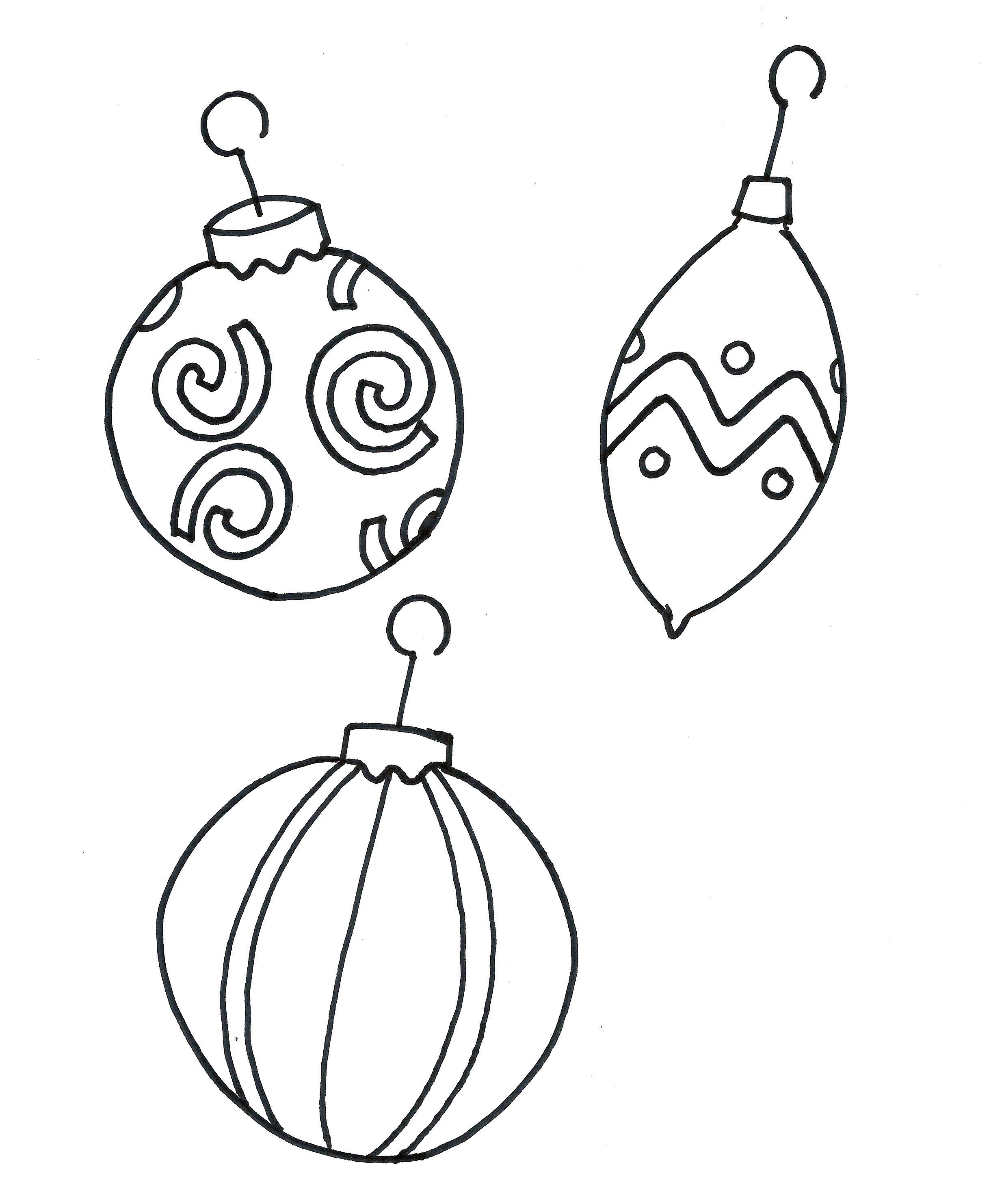photograph relating to Ornament Template Printable identified as Xmas Ornament Printables For Xmas - Xmas