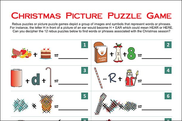 christmas picture puzzle games printable