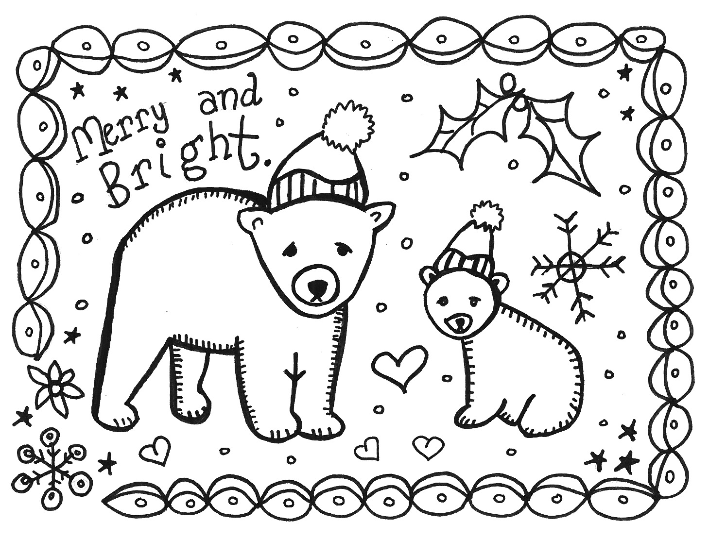 christmas pictures to color and print free