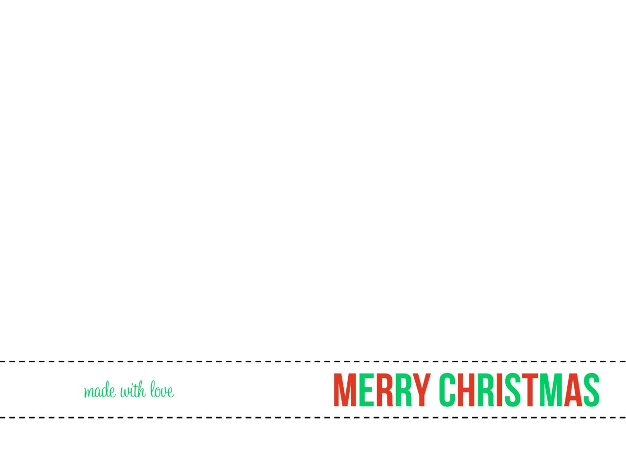 christmas present template printable
