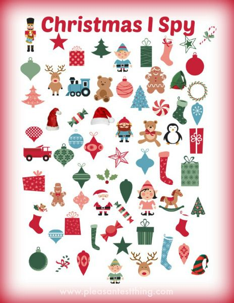 christmas print off activities