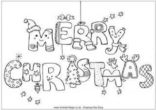 christmas printable colouring in