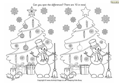 image regarding Find the Difference Printable named Xmas Vacation spot The Big difference Printable - Xmas Printables