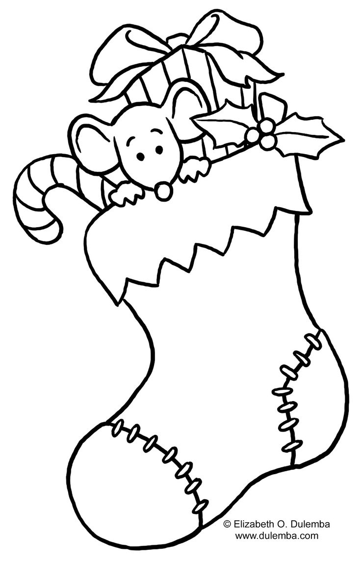 colouring page printables for christmas