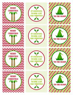 cupcake topper printables for christmas