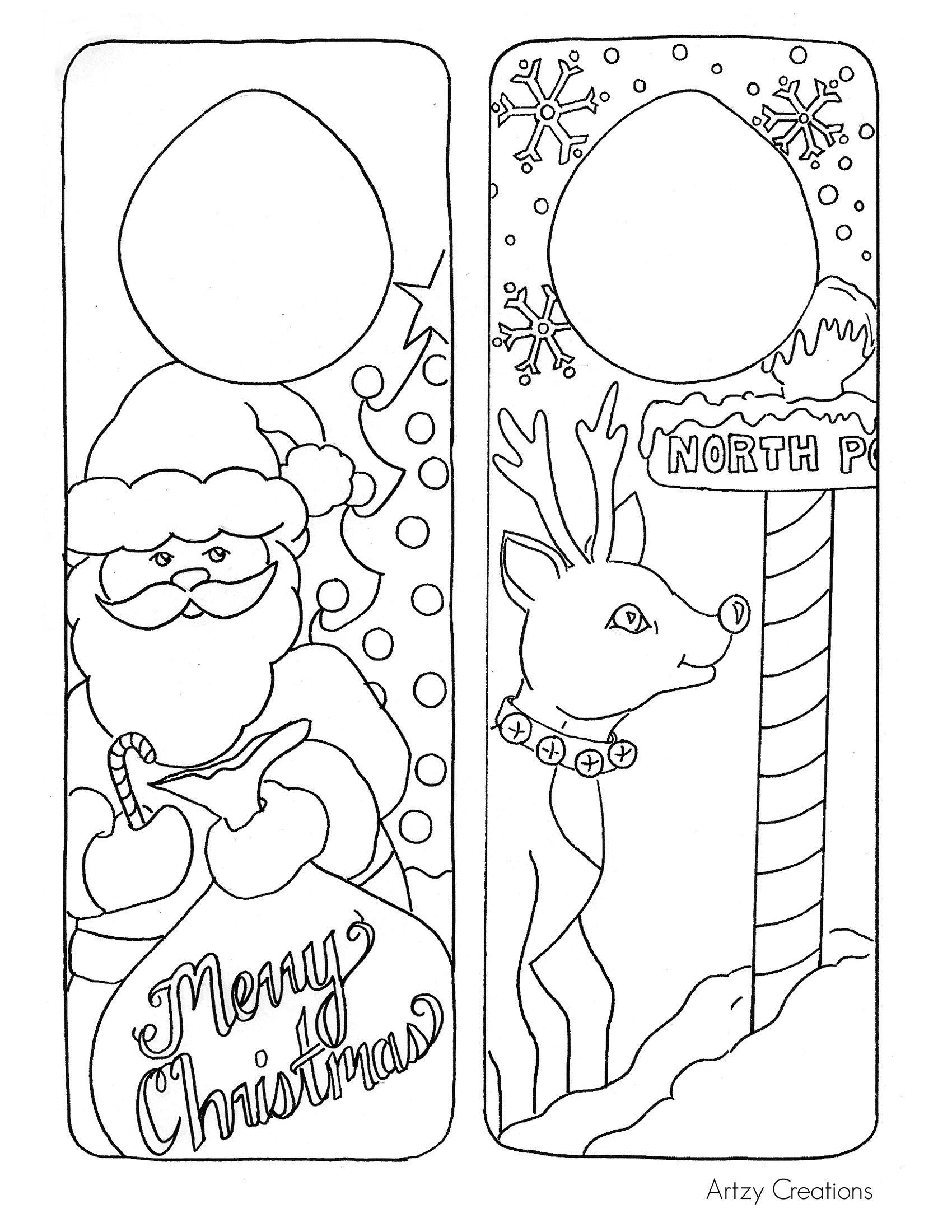 Door Hanger Printables For Christmas - Christmas Printables