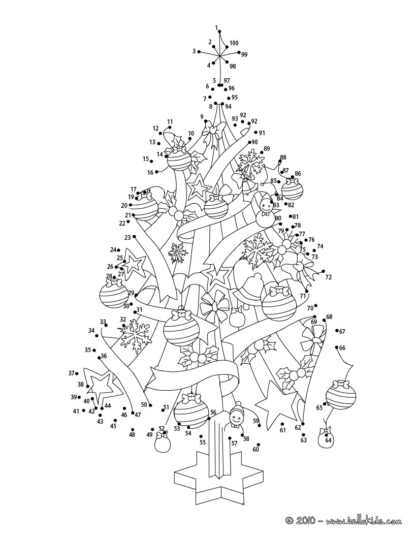 dot to dot printables for christmas