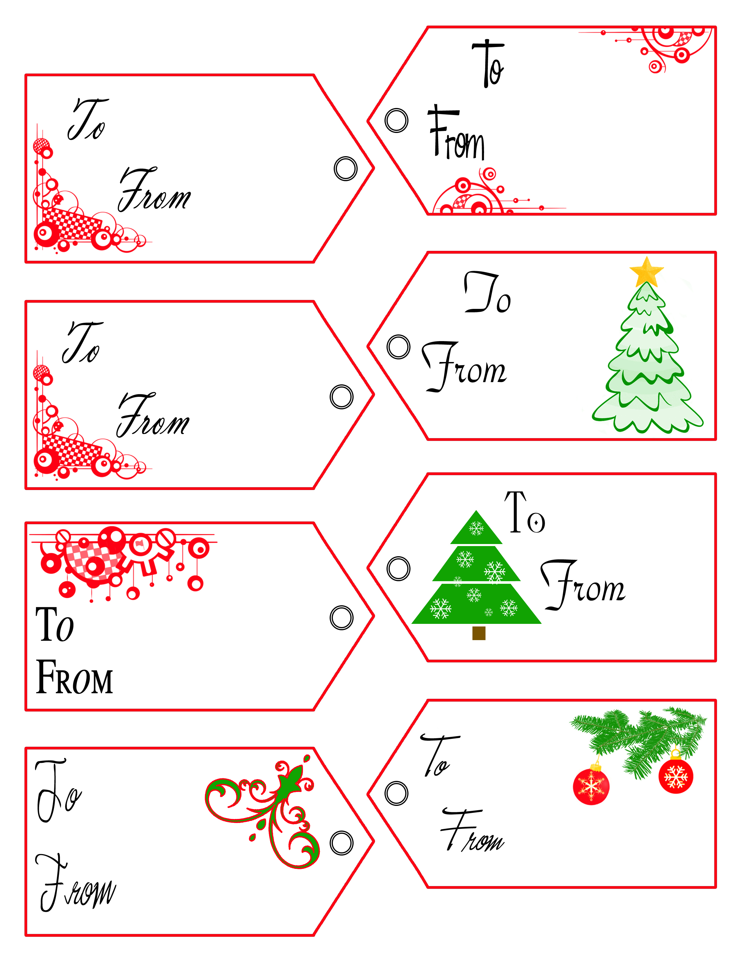 downloadable printable christmas gift tags