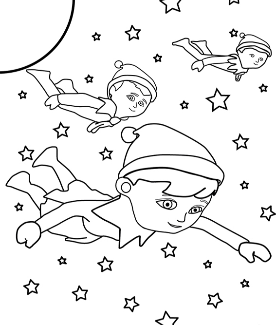 elf on the shelf printable coloring pages