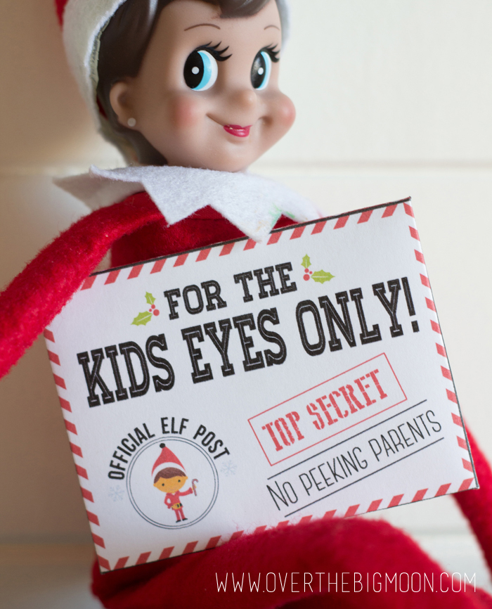 elf on the shelf printable envelope