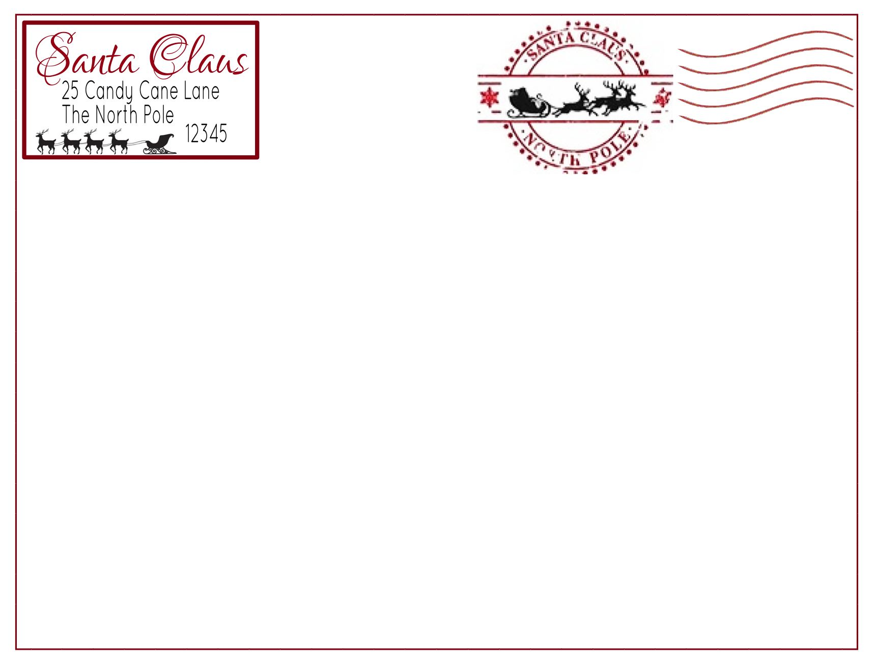 elf on the shelf printable envelope christmas printables