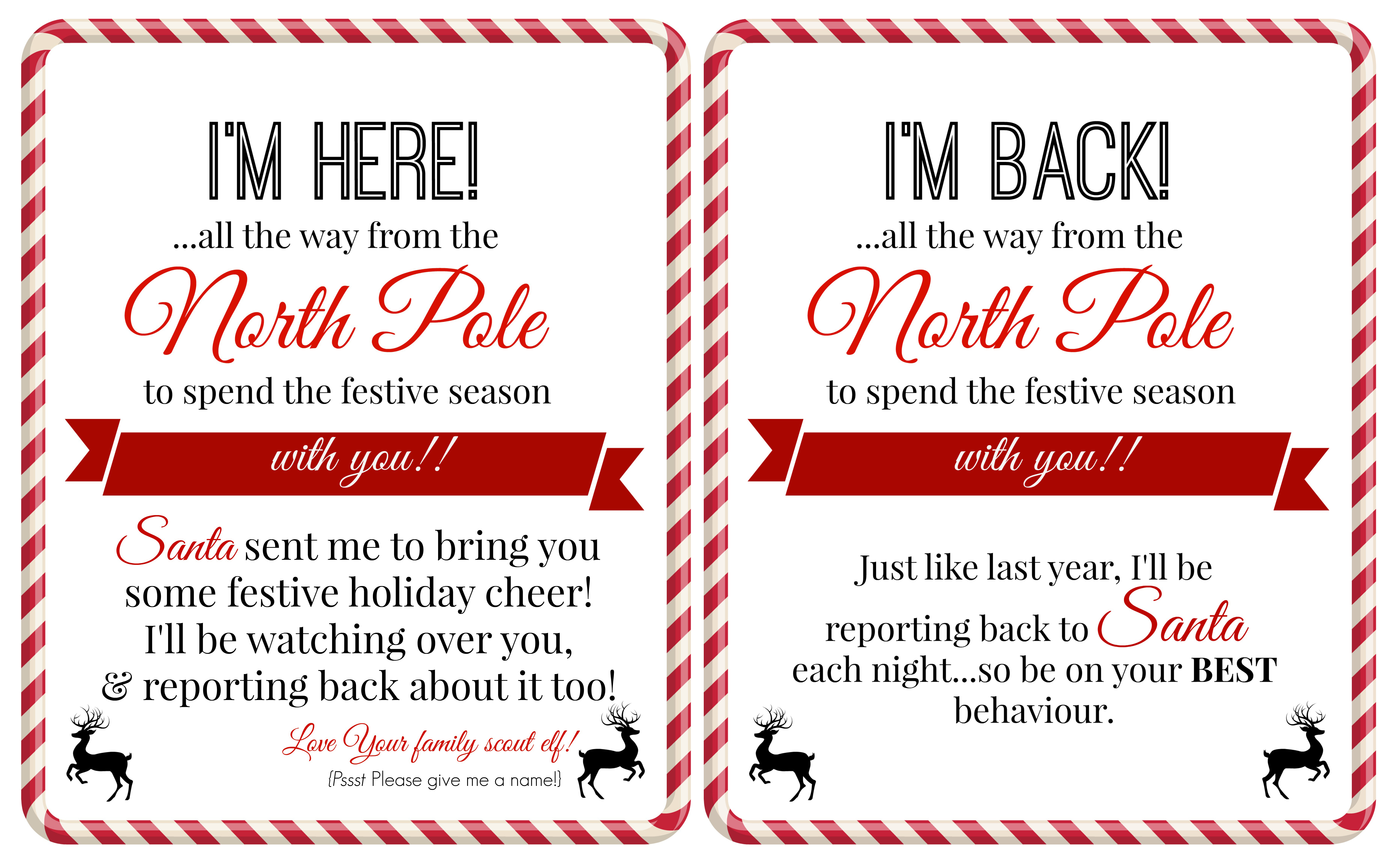 elf on the shelf welcome back letter printable