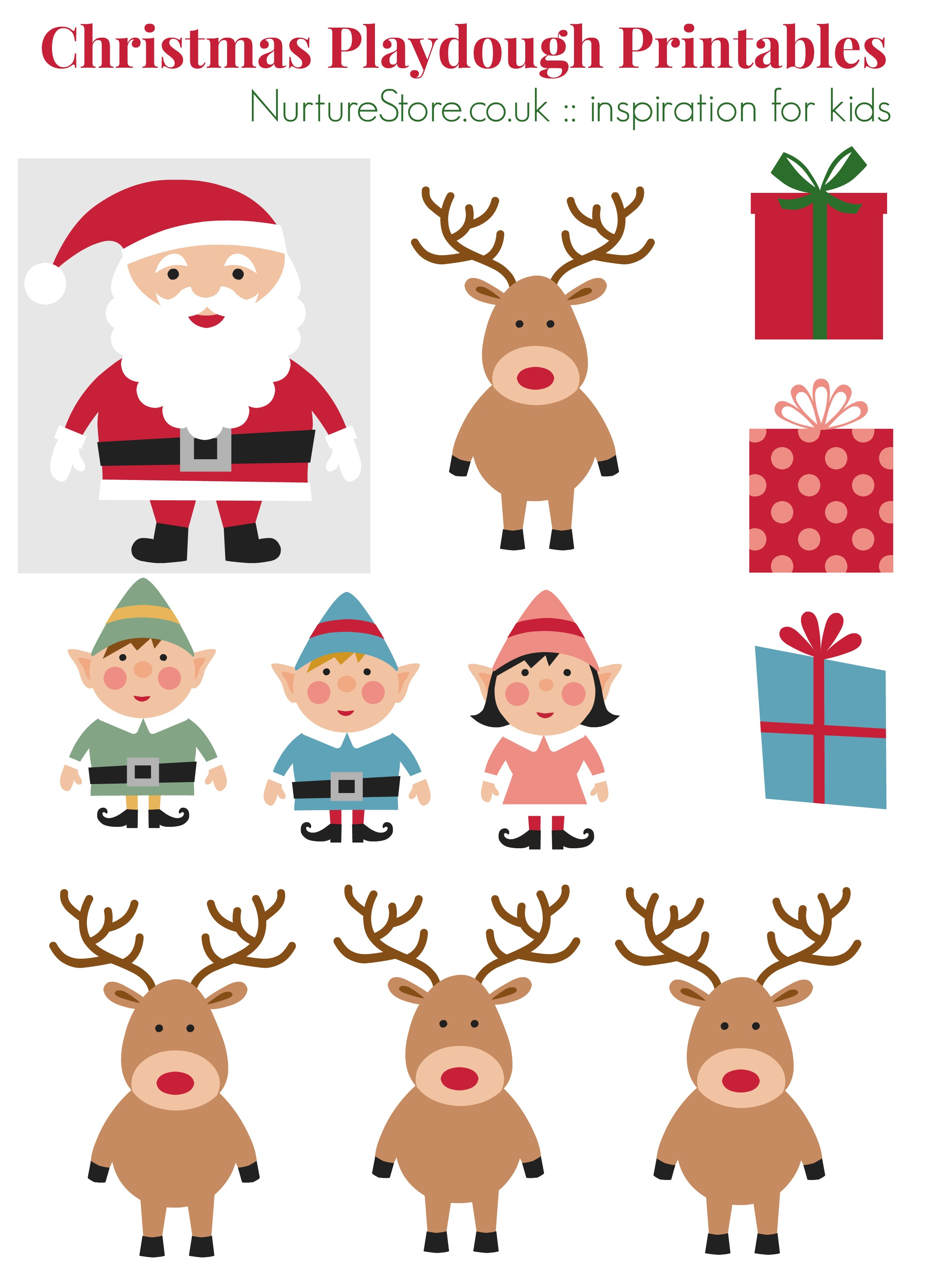 father christmas pictures to print