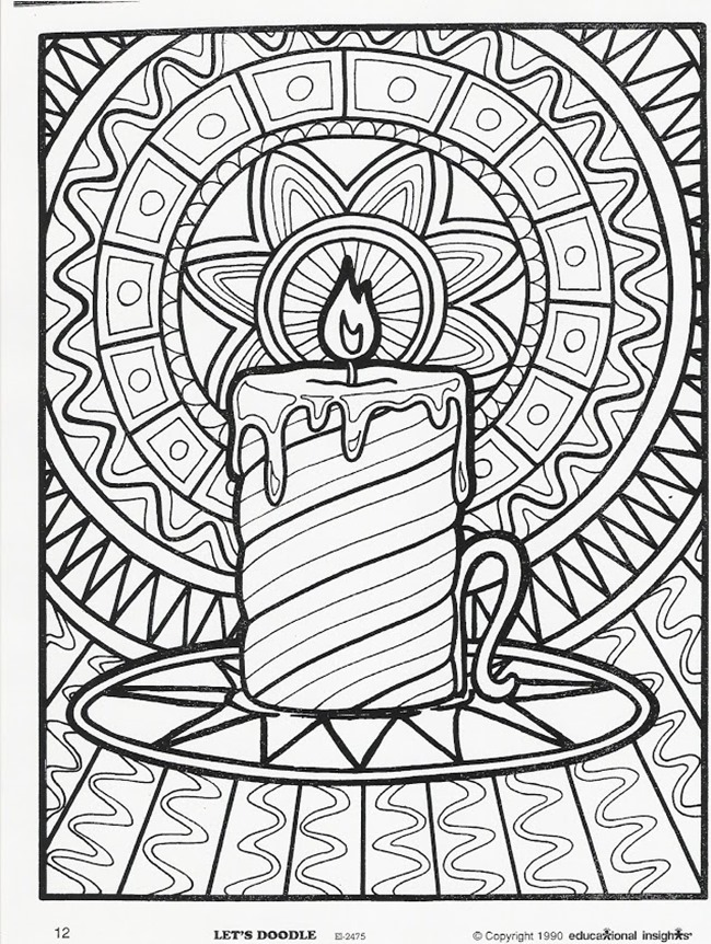 free christmas coloring pages to print for adults