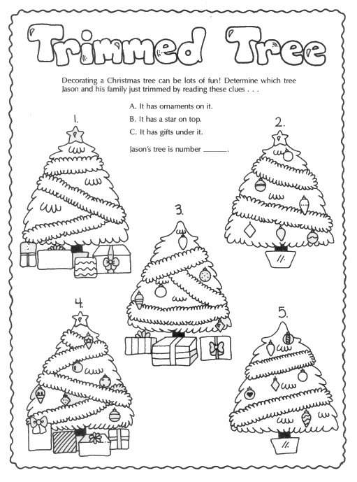 free printable childrens christmas activities