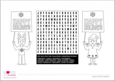 image about Printable Kid Activity known as Free of charge Printable Childrens Xmas Pursuits - Xmas
