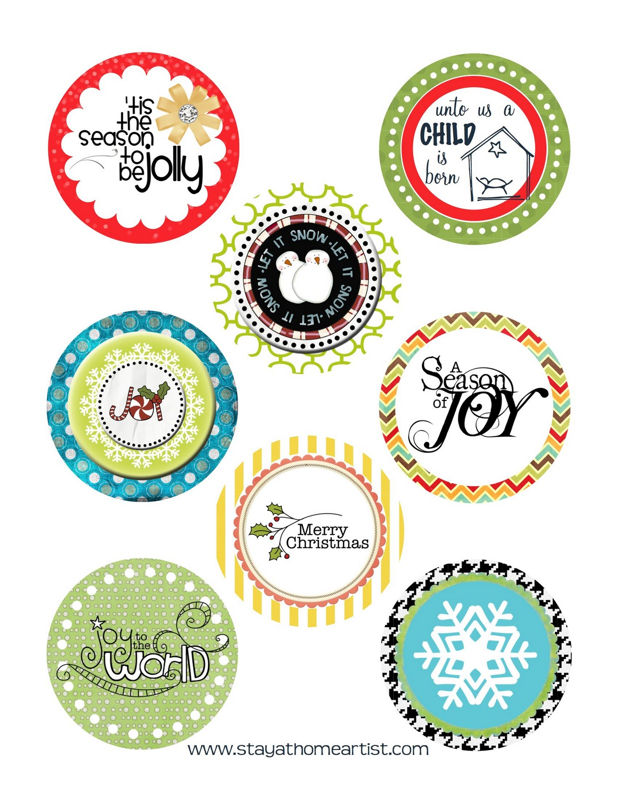 free printable christmas decorations