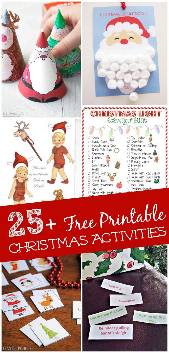 free printable christmas game ideas