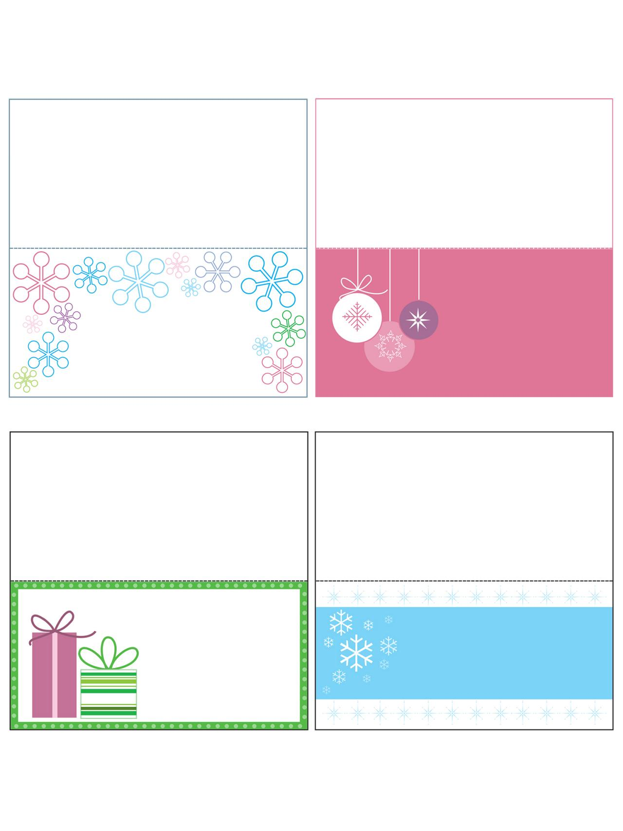 free printable christmas gift cards templates
