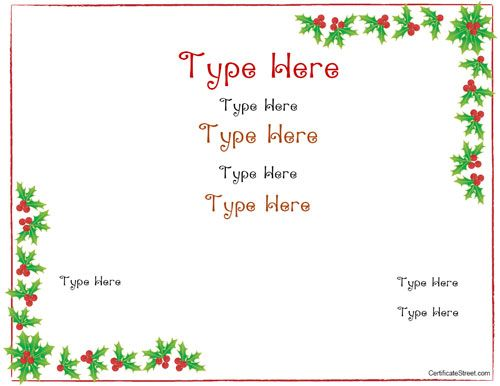 Free Printable Christmas Gift Cards Templates Christmas Printables