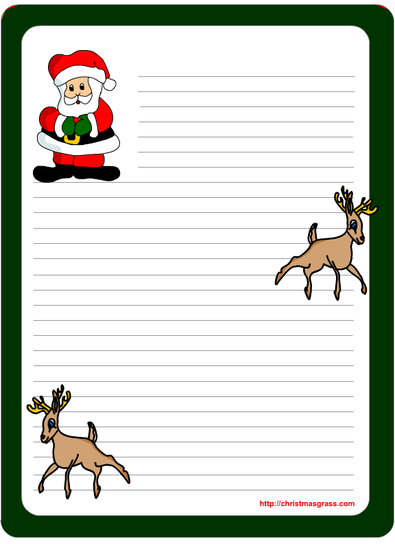 free printable christmas letters