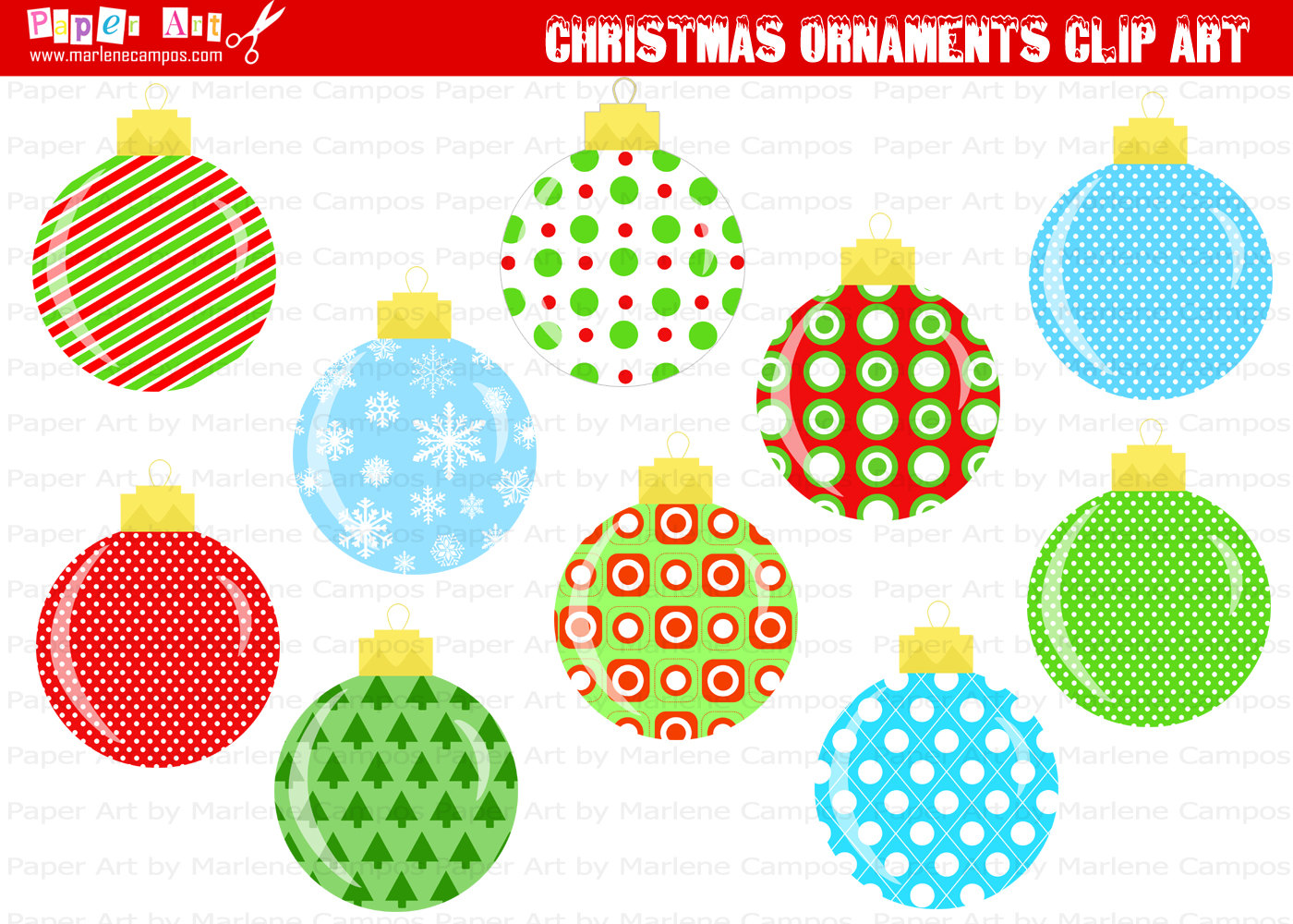 free printable christmas ornament cutouts