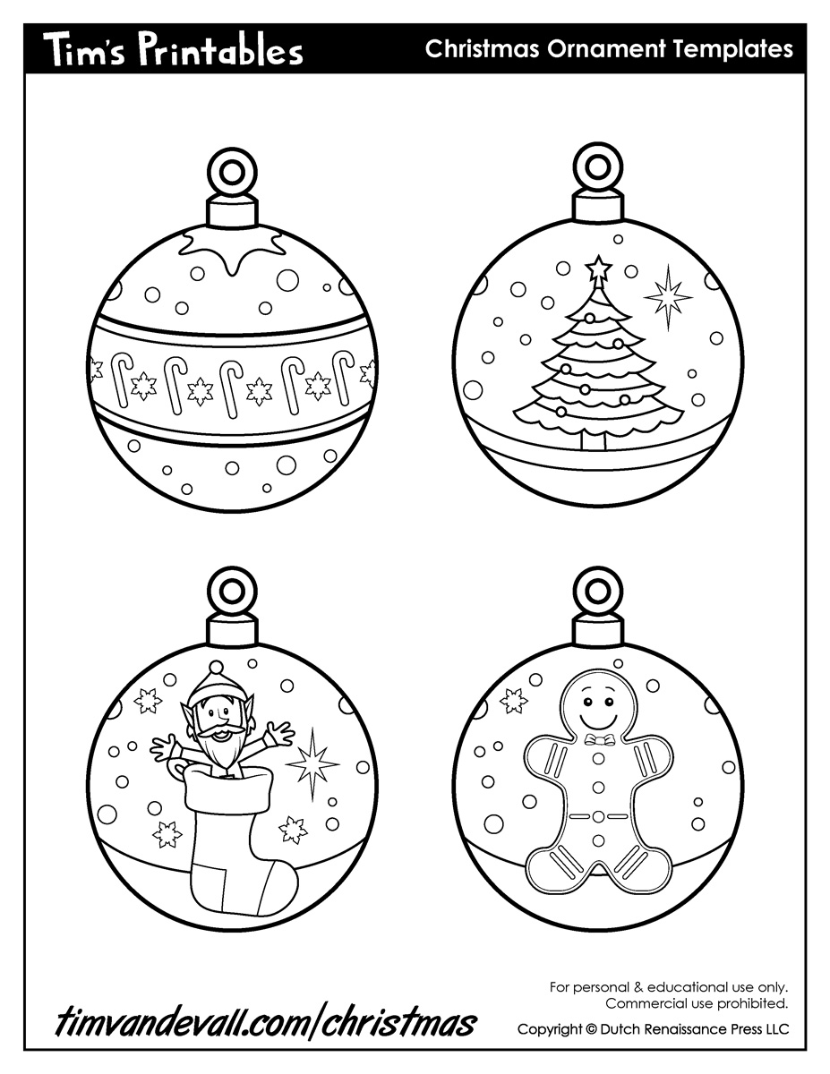 Free Printable Christmas Ornament Cutouts - Christmas ...