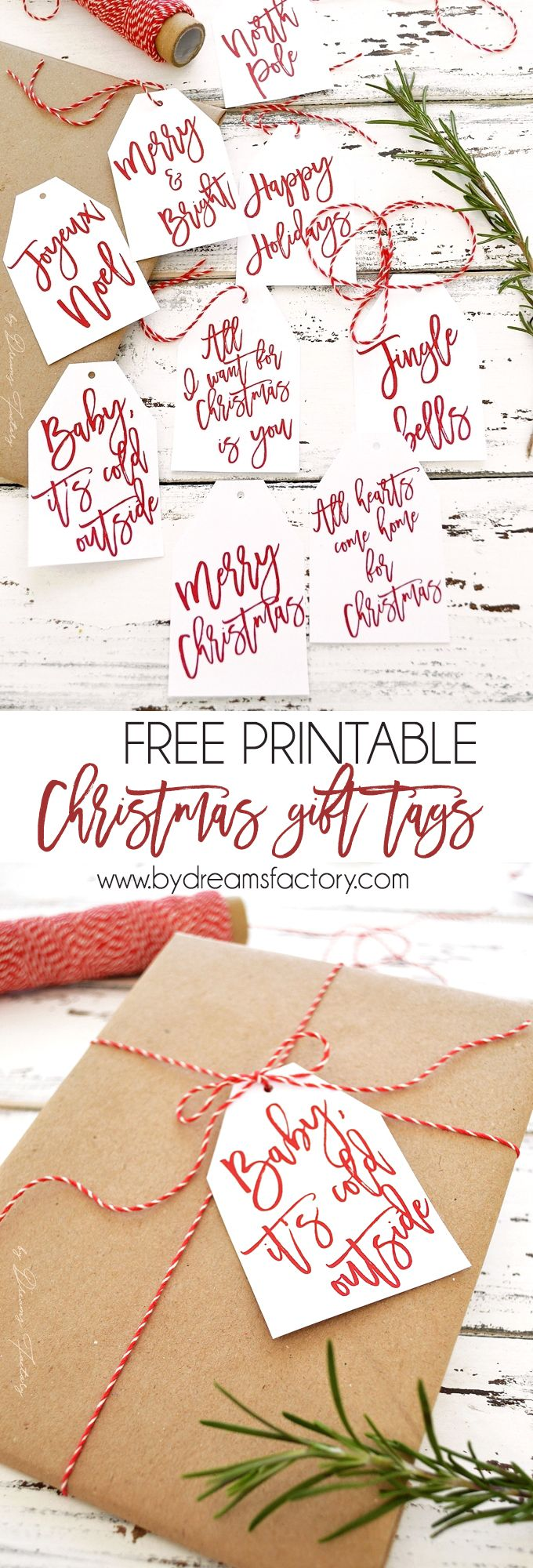 free printable christmas presents