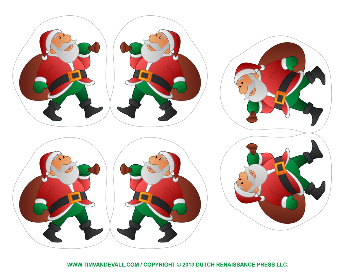 image about Free Printable Christmas Clip Art referred to as Absolutely free Printable Xmas Things - Xmas Printables