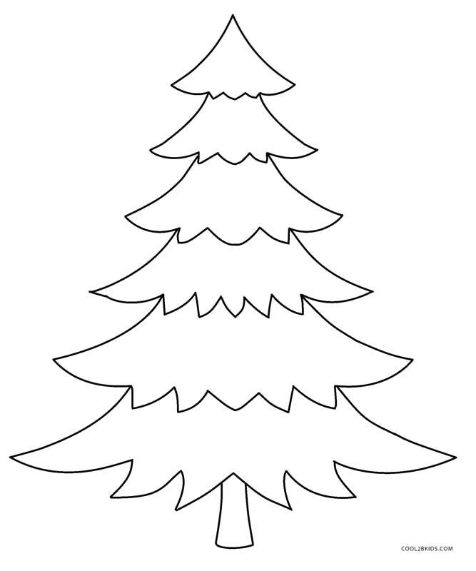 free printable christmas tree template