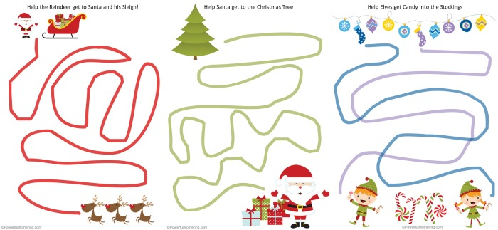 free printable christmas worksheets for preschoolers