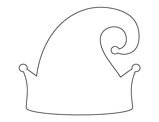 free printable elf hat template