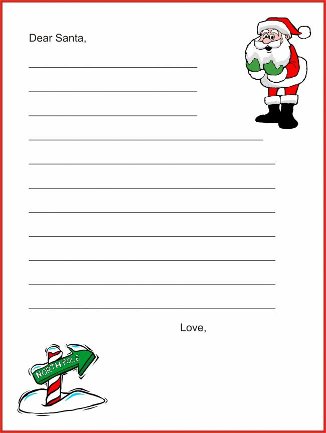 free printable letter from santa template
