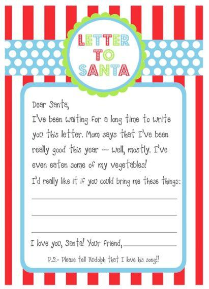 Letter To Santa Template Free Printable Suyhi