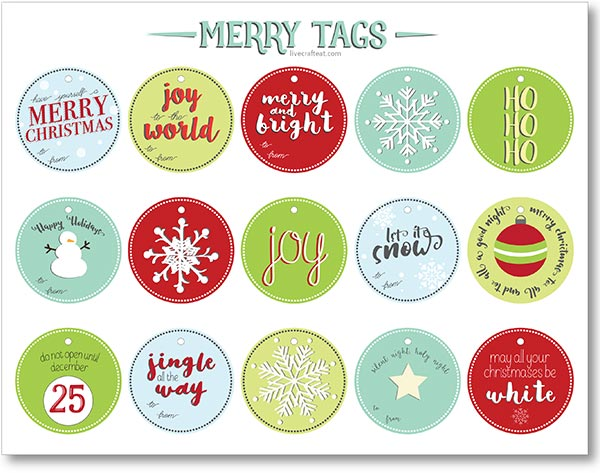 free printable merry christmas labels