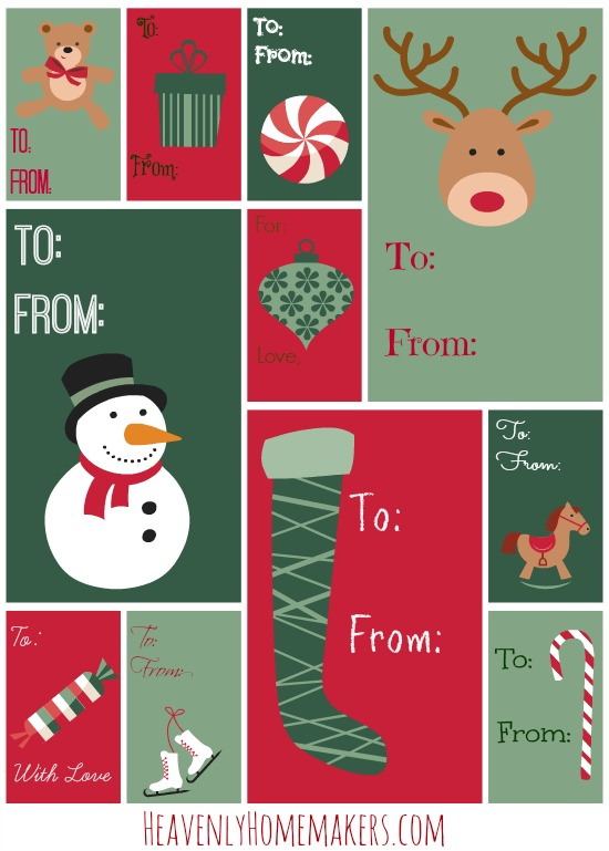 free printable tags christmas