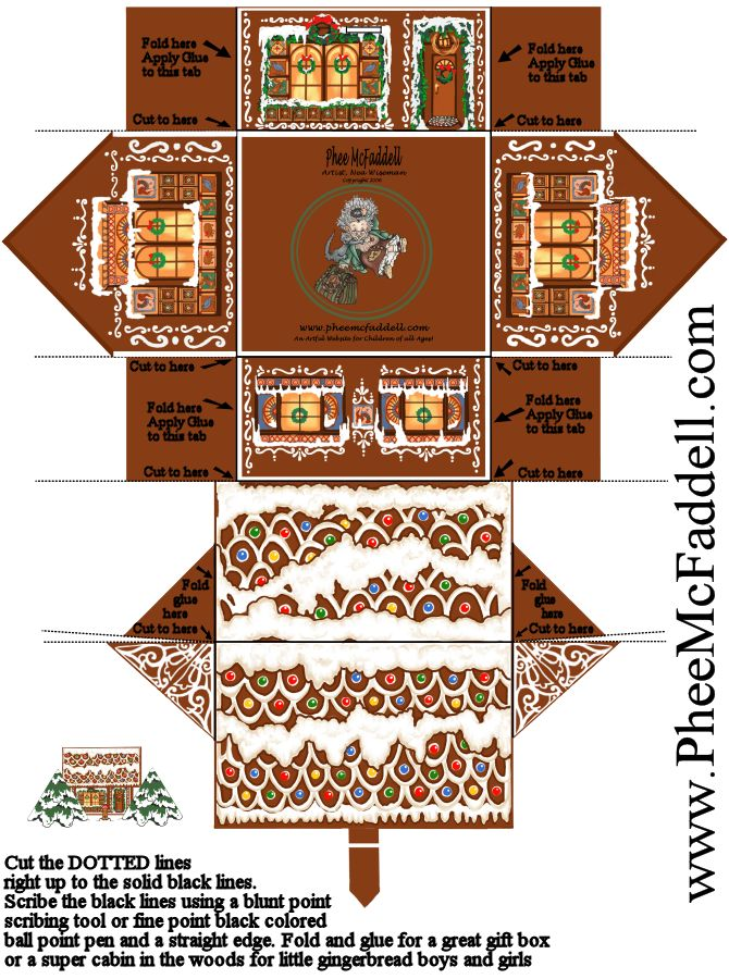 Gingerbread House Printables For Christmas Christmas