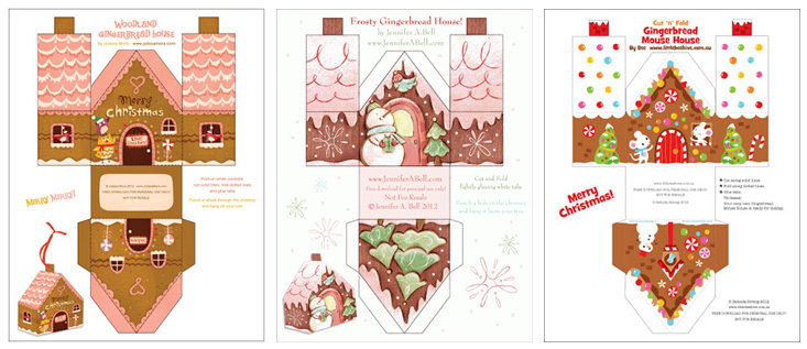 image relating to Printable Gingerbread House titled Gingerbread Residence Printables For Xmas - Xmas