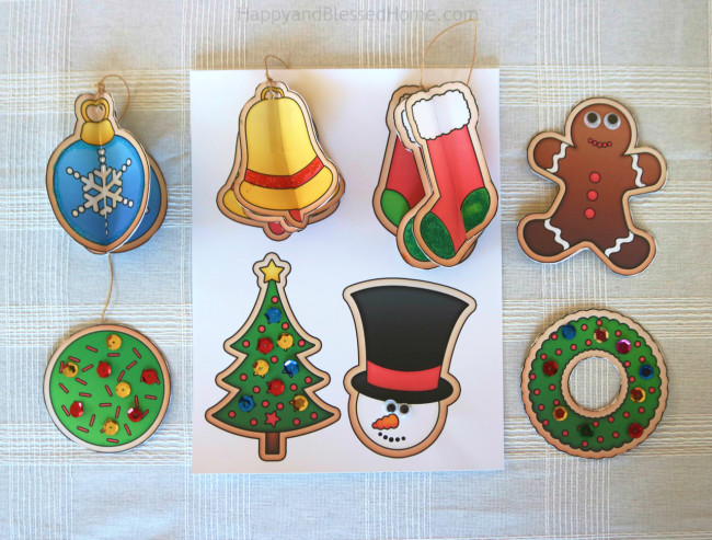 kids christmas crafts printable